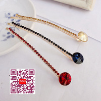 G1004 Free shipping minimum order $10 (mix order) fashionable hairgrips crystal hairpins  hair clip for lady 6 colors