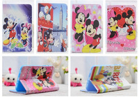 Brand Cute Minnie Mickey Flip Stand Leather Cases Cover For Samsung Galaxy Tab 3 P3200 P3210 T210 T211 Lite 7.0 T110 T111 Shell