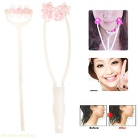 Promotion Top quality Hot sale 3 in 1 Flower Design Face Up Massage Roller Slimming Remove Chin Neck Massager Beauty Tools