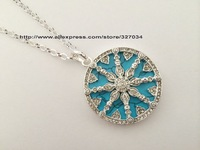 ts new  hot selling hot necklace ts whole sale price ta0087 Wheel of Karma Orchid stone