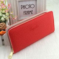 2014 New Wallet Women PU Leather Wallet Desigual Long Zipper Candy Color Women's Wallet Ladies Purse Wallets