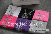 2014 summer new fashion brand ladies t-shirt, rhinestone letters y logo t-shirt round neck short sleeve T-shirt  Women