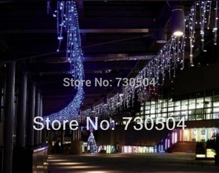 96 LED Icicle Christmas Holiday Light Wedding Party garden Xmas Decoration 3.5m led curtain light with tail plug(China (Mainland))