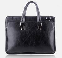 2014 New Business Genuine Leather Men's Handbags Cowhide Messenger Fashion Travel Retro Leisure Large Capacity Bags Negotiation