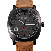 Famous Brand 2014 New CURREN Genuine Leather Strap Sports Watches Luxury Casual Men Quartz Analog  Watches Military Wristwatches