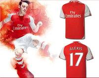 A+++  Top Men Brand Home 1415 Thai Ozil Rosicky Walcott  Alexis Sanchez  Giroud  Arteta Podolski Wilshere club Soccer Jerseys