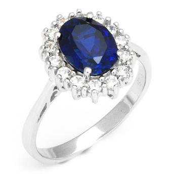 люкс британской принцессы дианы кейт уильям свадьба обручальное синий сапфир кольцо сервиз чистых твердая стерлингового серебра 925