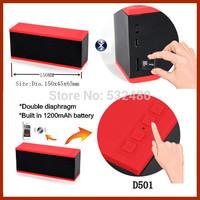 40pcs D501 Wireless intelligent voice Hands-free call bluetooth sterro sound speaker with tf slot