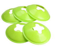 5Pcs 18cm Space Marker Cone Discs Sports Training Cone Landmark Green