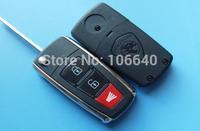 New style Proton 2+1 button flip remote key shell proton key case proton key blank