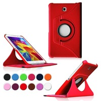 Rotating Stand Leather Case For Samsung Tab 4 7.0 T230 , 100pcs\lot Free Shipping