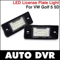 2Pcs/Set LED License Plate Light Lamp for VW Golf 5 5D Touring / Passat B5.5 5D Touring / Tiguan / Touareg