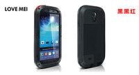 Original Dirt Waterproof Love Mei Metal Aluminum Case For Galaxy S4 i9500 S3 I9300+Gorilla Glass,Free Shipping