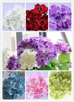 7C available DIA 15cm artificial hydrangea flower head diy wedding bouquet flowers head wreath garland home decoration