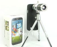 12X Zoom Camera Lens for Samsung galaxy S4 I9500 Mobile Phone iphone 6 with Tripod Holder ( Telescope Long Focal) Free shipping