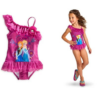 2-10 2014 New Hot Sale Good quality & lowest price Frozen dress Swimwear Girl dress Frozen Elsas dress and Anna's dress Swimsuit