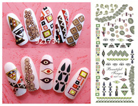 Pre-sale 2014 new Export JAPAN Quality Hot 121-123 NEWEST 3 pieces Popular 3d nail art stickers decal popular in japan