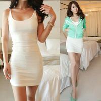 2014 Women Best Selling Solid Thin Sexy Spaghetti Strap Summer Dress Vestidos, White, Gray, Navy Blue, Black, S, M, L, XL, XXL