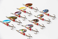New 2014 Spinner Bait Metal Spoon Lure Hard Spinner Lures Fishing Tackle Spinnerbait 10pcs/lot  Free Shipping