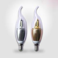 3W E14 85-265V LED Candle Light Warm White 3pcs/lot
