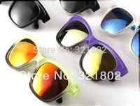 Fashion Retro color Mens Womens Sunglasses Double color Sunglasses Outdoor sunglass with Box Free shipping