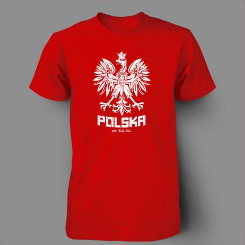 Man Spring 2014 Polska Polish Dance Soccer Poland Football T-shirt Men 100% Cotton Printed Custom TShirt Short Sleeve Size S~3XL(China (Mainland))
