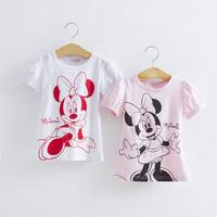 Girls Boys Hello Kitty Minnie Tshirt Children Short Sleeve T-shirt Kids Summer Clothes 5pcs/Lot Free Shipping
