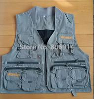 Free Shipping unisex multi-pocket multi-function fashion advertisement vest photography vest fishing vest