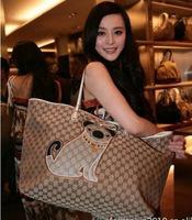 2014 new arrival fashion women leather handbag women's clutch bags cartoon pattern handbag women's tote free shipping sg236