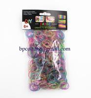 100 packs/lot 2014 New loom bands glitter rubber bands (600PCS +24 PCS S crochet hook +1 PCS )