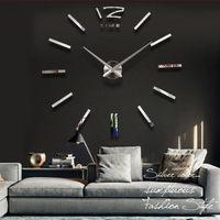 Home decorations!big mirror wall clock Modern design,large decorative designer wall clocks.watch wall sticker,unique gift
