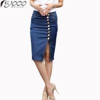 XS S M L XL XXL 3XL 4XL 5XL 2014 new arrival denim skirts womens pencil jeans front button skirt for women 2232