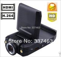 Hot Selling Free Shipping Car Camcorder DVR K2000 2LED Night Vision G-sensor,H2.64,1080P FHD 180Angle Degree Rotation,5Mega