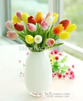 1 шт. многоцветный мода все матч искусственные цветы пу качество украшения цветы