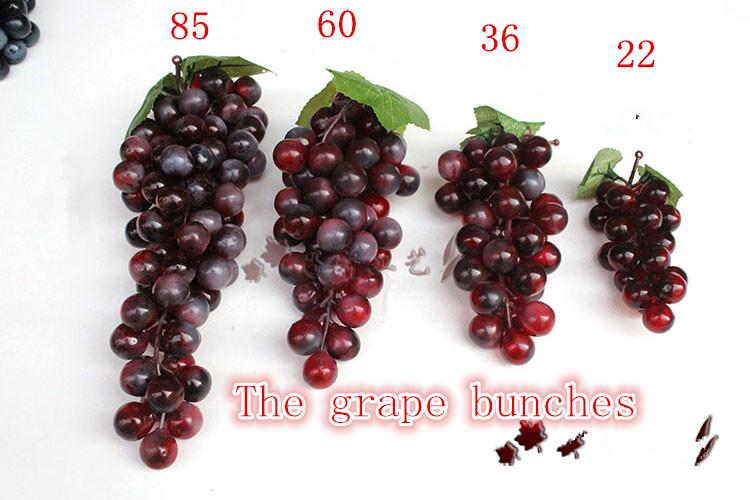 High simulation grape bunches feel cream plastic grape grain of false fruit shoot props home decoration(China (Mainland))