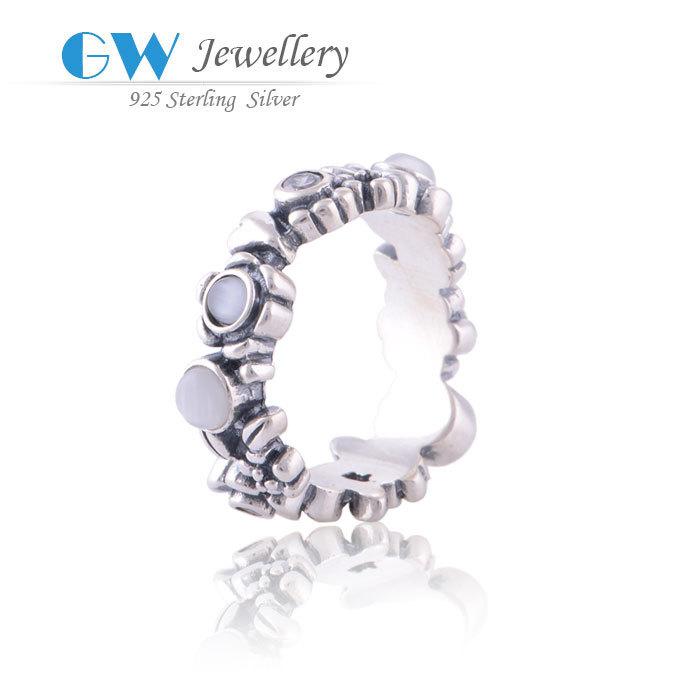 925 silber blume ring mit europäischen edelstein-schmuck zubehör für jubiläumsgeschenk rip003