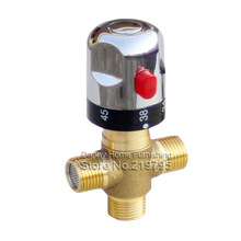 envío gratis menor- latón válvula mezcladora termostática, termostato de tubería válvula, controlar la mezcla temperatura del agua(China (Mainland))