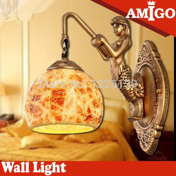 Амиго Европы и Америки Русалка привело стены света привлекательным декоративные светильники для ванной