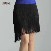 Chagme Latin dance tassel short skirt Latin dance skirt Latin dance clothes Latin 2085