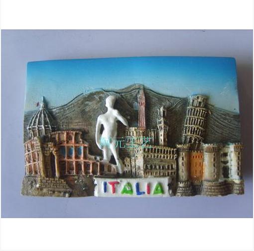 E22.07 frete grátis grau superior cenário barato Italia promoção lembrança imã de geladeira adesivo(China (Mainland))