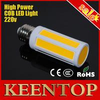 High Power E27 220V 8W Cob Wall Corn Bulb Ceiling Lamp Protect Eyesight Pendant Light High Brightness Solar Spotlight 10Pcs