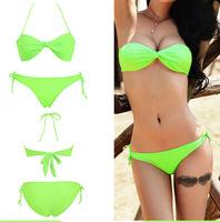 2014 New Swimwear with Pad women Push UP bikinis set  High Quality Vintage Style Girls bathing suit Hot Selling Brazilian Bikini