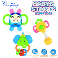Free shipping CP1353-2 3pcs/Lot baby bottle rattles/baby toys 0-1year old newborn teethers baby hand rattles