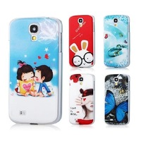 2014 Hot High Quality Painted Cartoon Pattern Mobile Phone Case Cover for Samsung I9500 Galaxy S4 Free Film