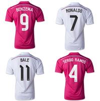 2014 15 Real madrid away jersey Bale 11 Ronaldo 7 Grade good quality soccer jerseys soccer shirt football jersey free shppping