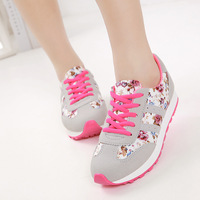 Free Shipping Women's New Breathable Printed Sneakers Sports Shoes 2015 Spring Flats Wholesale