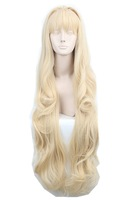 2015 New Arrival volcaloid3 SEEU,100cm Light blonde culy long cosplay costume wig,have stock,free shipping