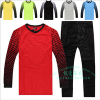 Free Ship Ad Ball Goalkeeper Set Goalkeeper Jersey Wicketkeeper Suit Goalkeeper Lungmoon Long Sleeve Soccer Football jersey set