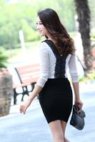 Free shipping! 2014 summer new package hip skirt | women's career skirts | stretch skirt