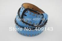 Many Colors Rivet Luxury Fashion Women Belts Female Waist PU Leather Jean Ladies belts Pin Buckle 2014 new DE346